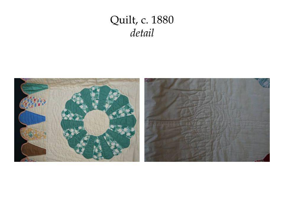 Quilt, c. 1880 detail