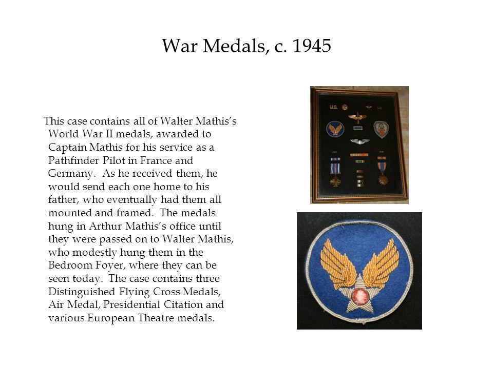 War Medals, c.