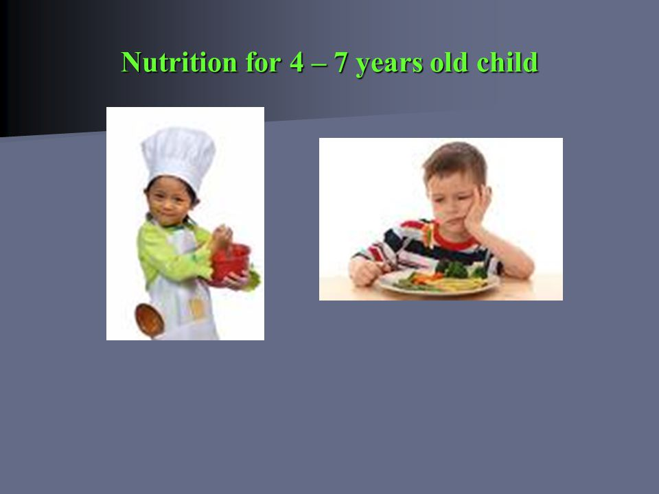 Nutrition for 4 – 7 years old child
