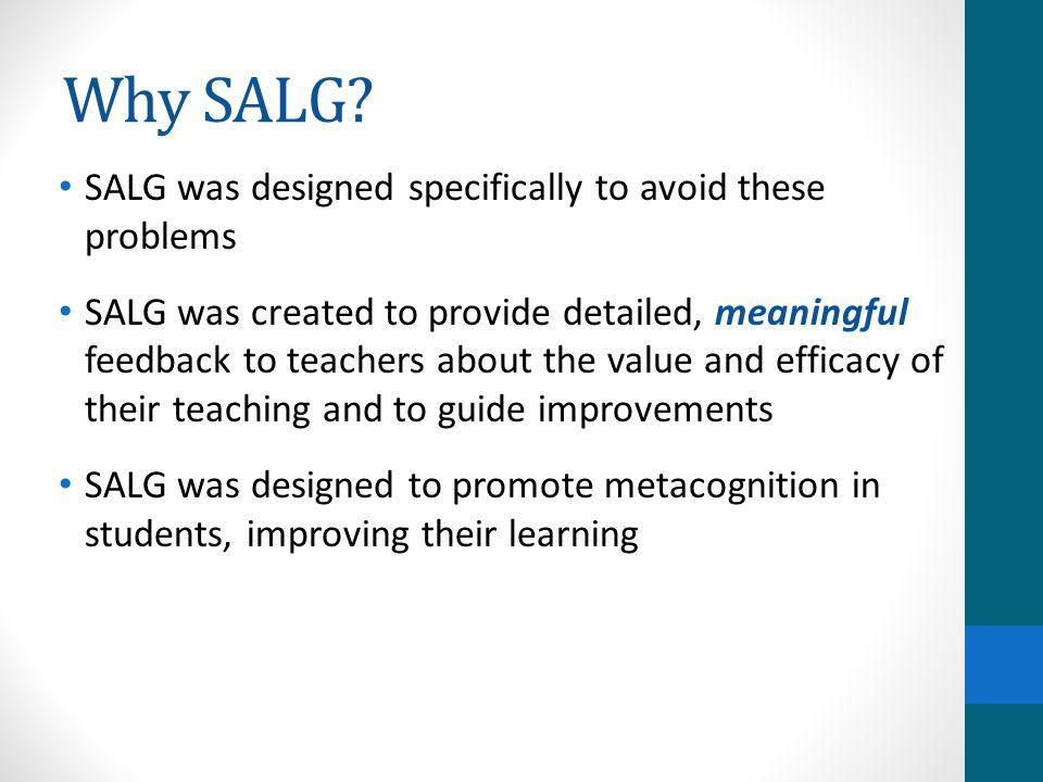 Why SALG.