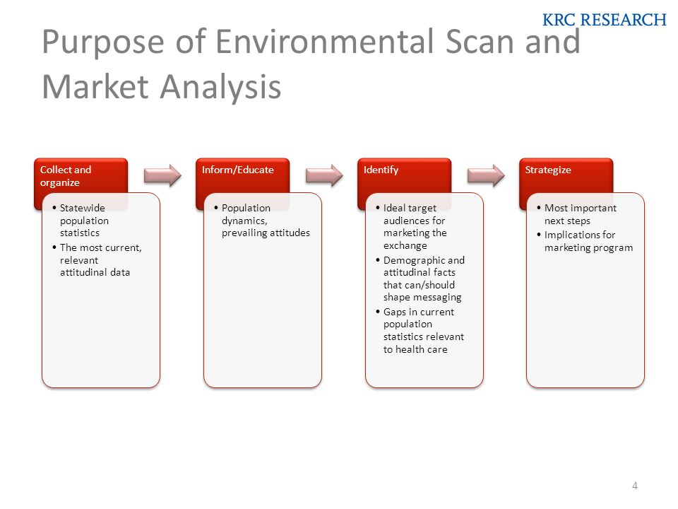 Purpose of Environmental Scan and Market Analysis 4