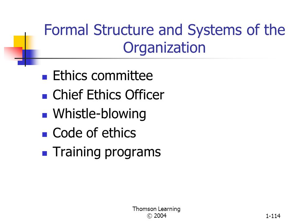 Thomson Learning © 20041-113 Forces That Shape Managerial Ethics Is Decision or Behavior Ethical and Socially Responsible? Beliefs and Values Moral De