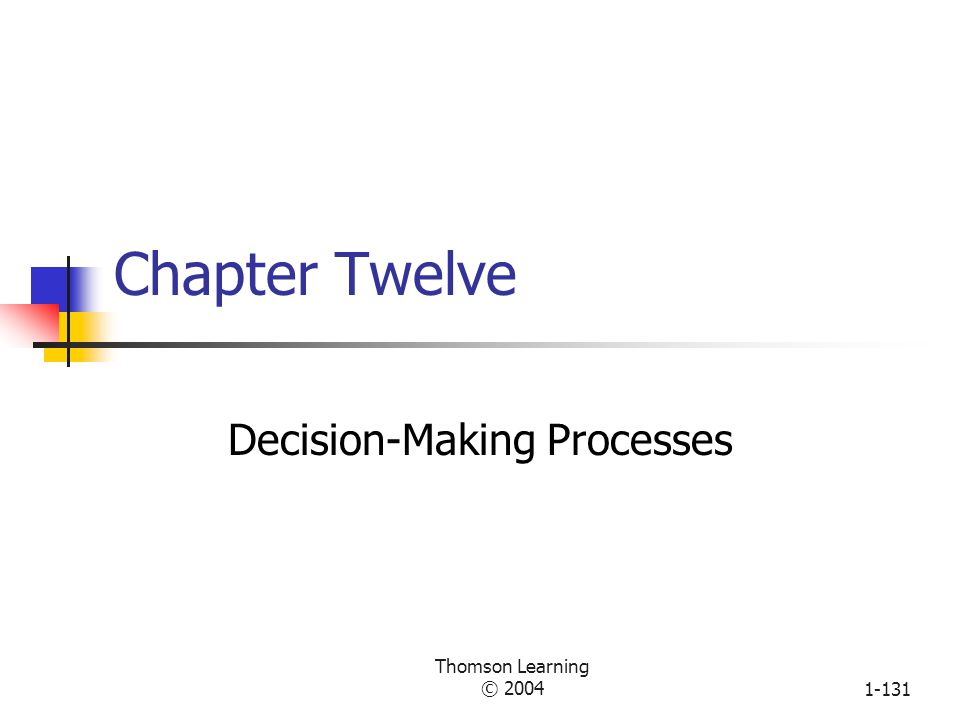 Thomson Learning © 20041-130 Innovation Measures Measure A Your Organization B Other Organization C Your Ideal 1.