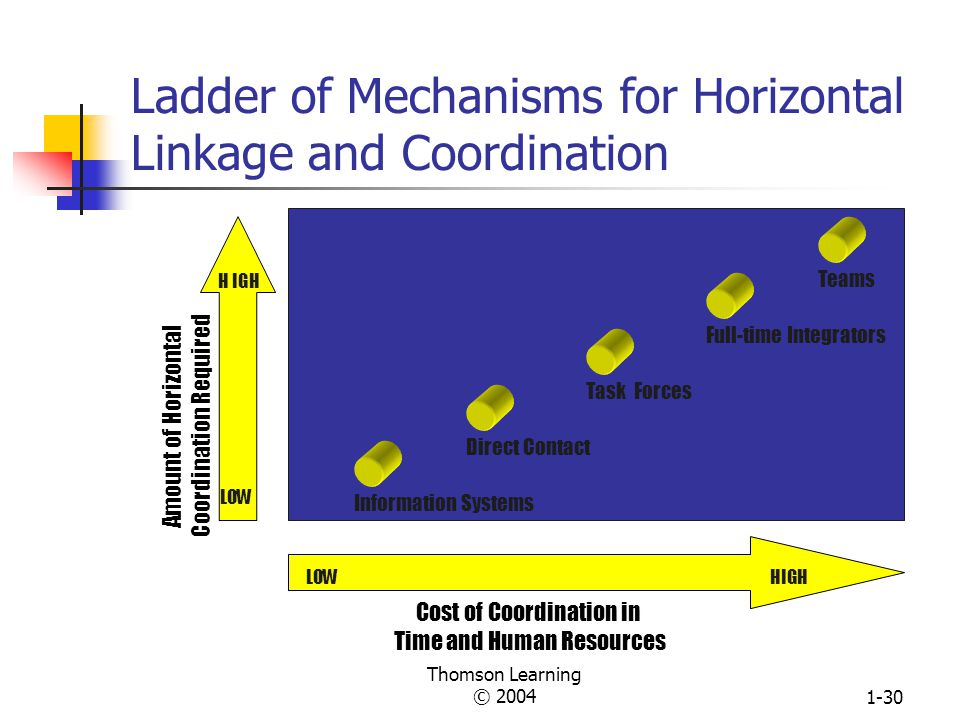 Thomson Learning © 20041-29 The Relationship of Organization Design to Efficiency vs.