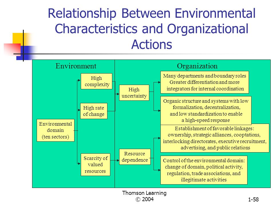 Thomson Learning © 20041-57 Organization Strategies for Controlling the External Environment Establishing Interorganizational Linkages: Ownership Cont