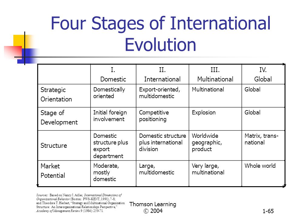 Thomson Learning © 20041-64 Chapter Six Designing Organizations for the International Environment