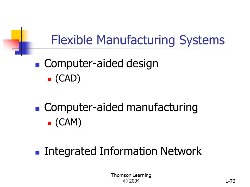 Thomson Learning © 20041-75 Woodward's Classification Based on System of Production Group I Small-batch and unit production Group II Large-batch and m