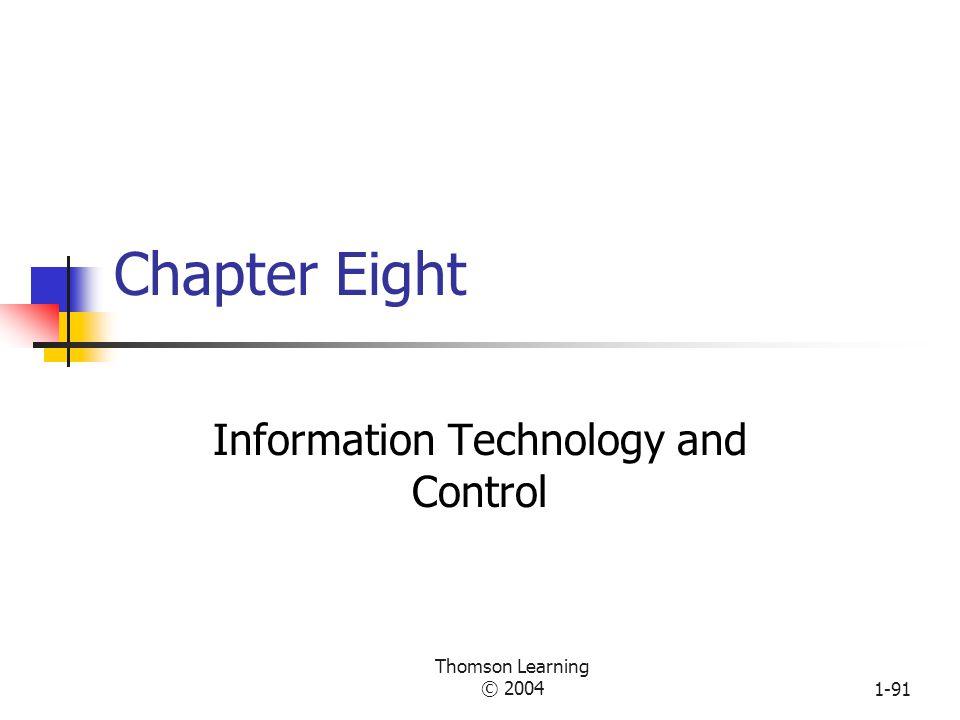 Thomson Learning © 20041-90 Technology Comparison Workbook Activity McDonald'sSubway Family Restaurant Organization Goals Authority Structure Woodward