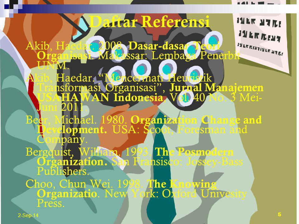 4 Daftar Referensi Konsep dan Teori Organisasi Program Magister Administrasi Publik Universitas Muhammadiyah Makassar 2012 2-Sep-14
