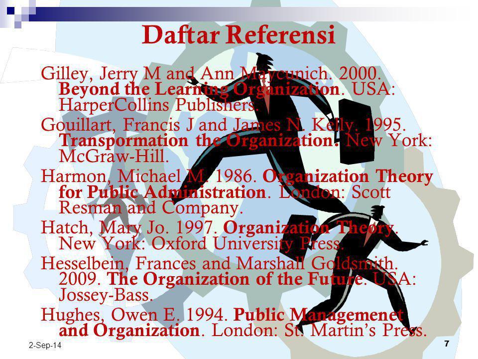 Daftar Referensi Cox, Taylor H. 1994. Cultural Diversity in Organizations: Theory, Research & Practice. USA: Berrett-Koehler Publishers, Inc. Daft, Ri