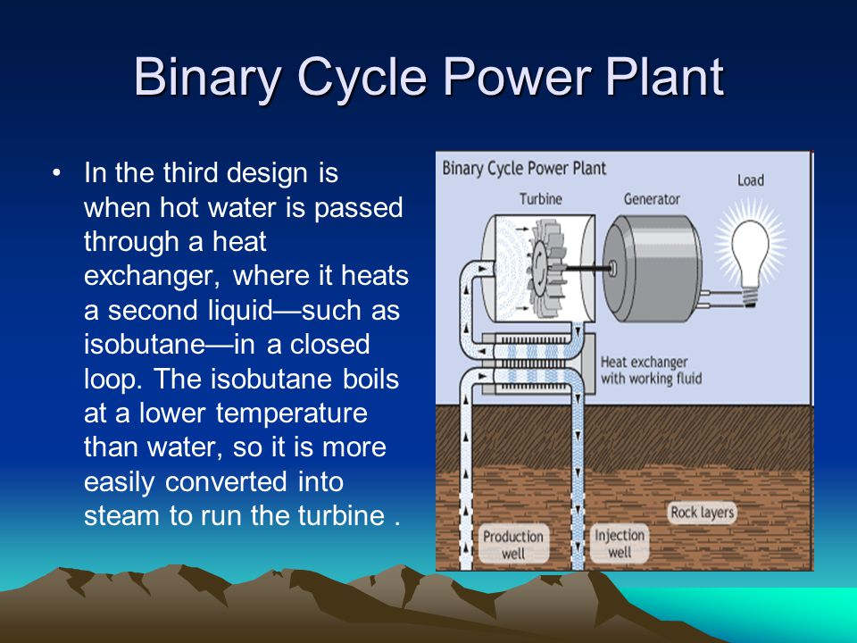 Equipment ( Use) Geothermal energy can be used for heating homes.