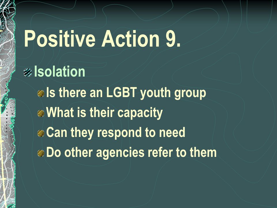 Positive Action 9.