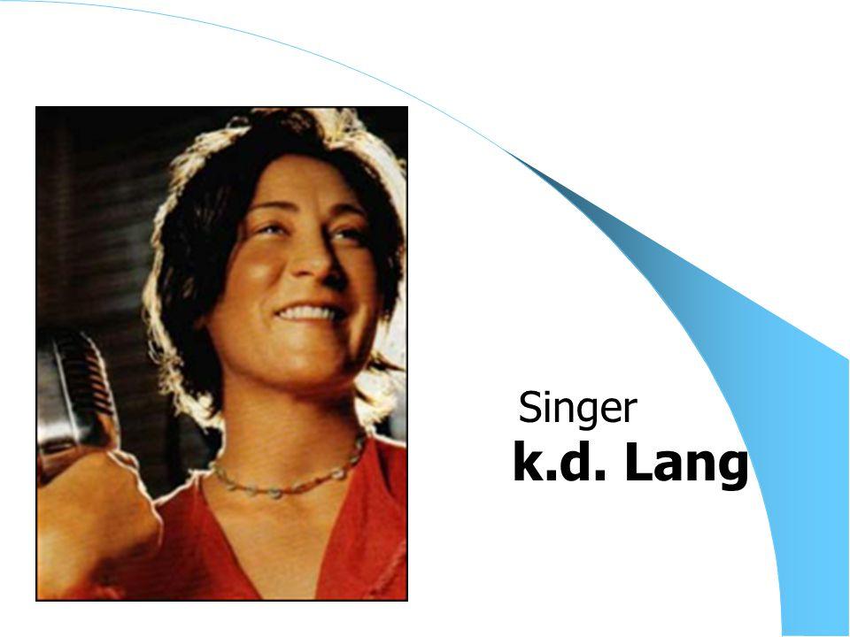 k.d. Lang Singer