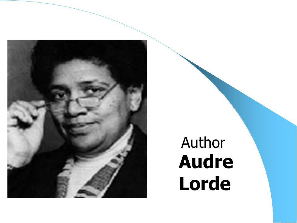 Audre Lorde Author