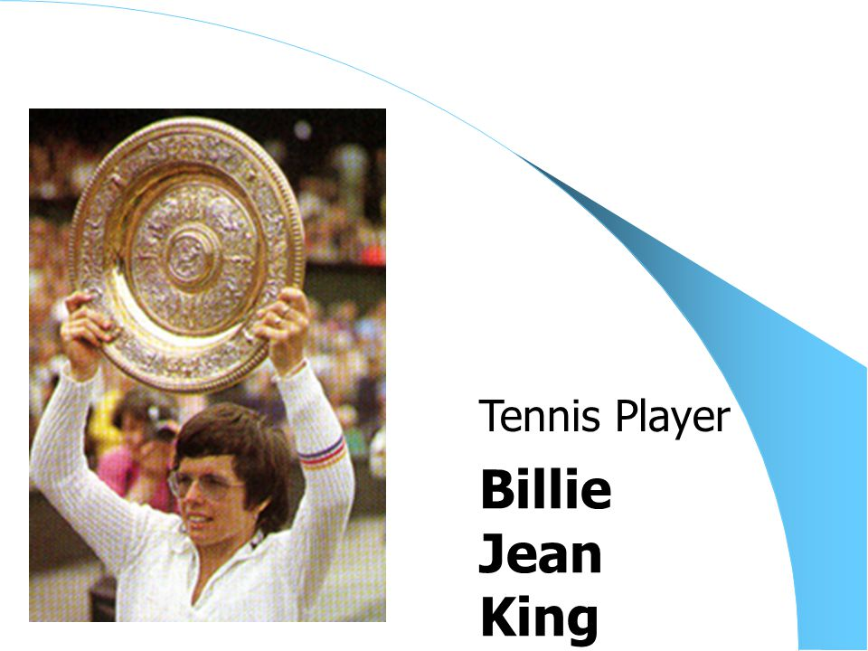 Billie Jean King Tennis Player