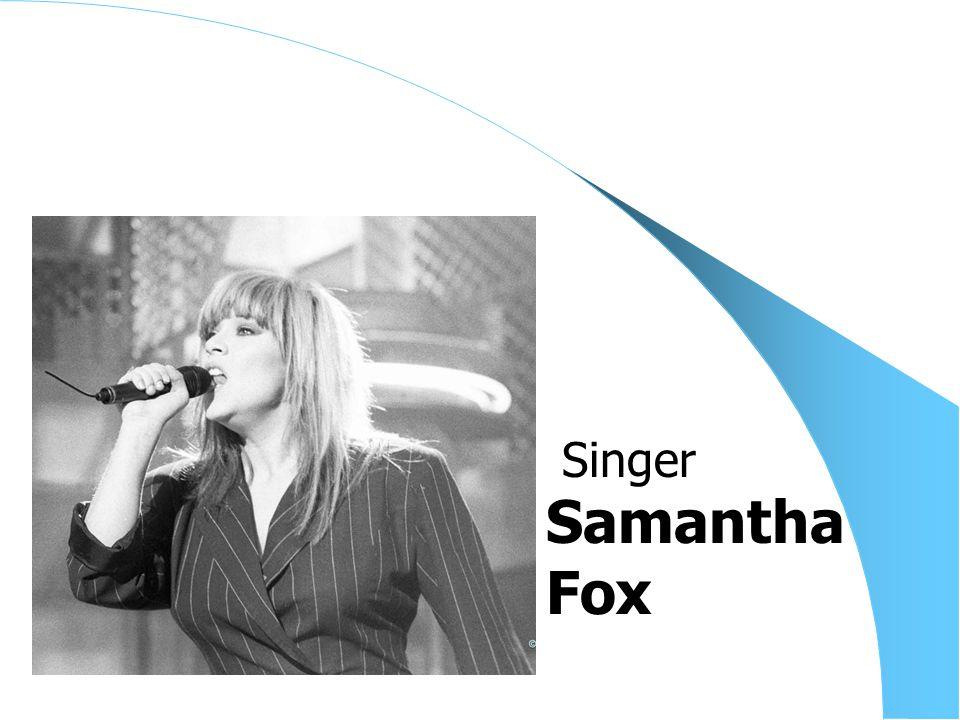 Samantha Fox Singer