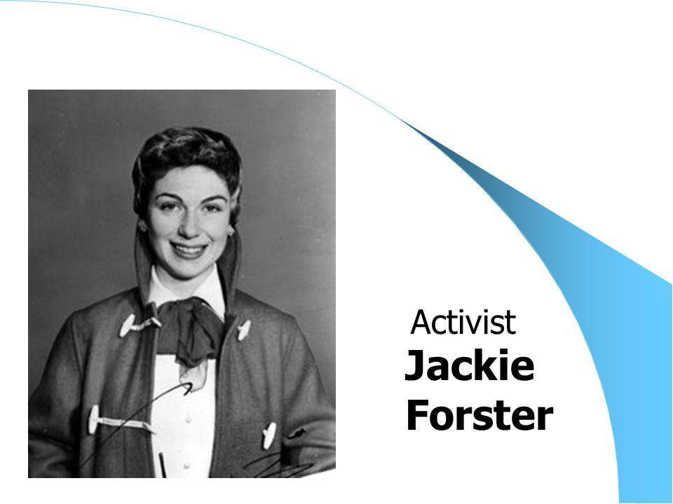 Jackie Forster Activist