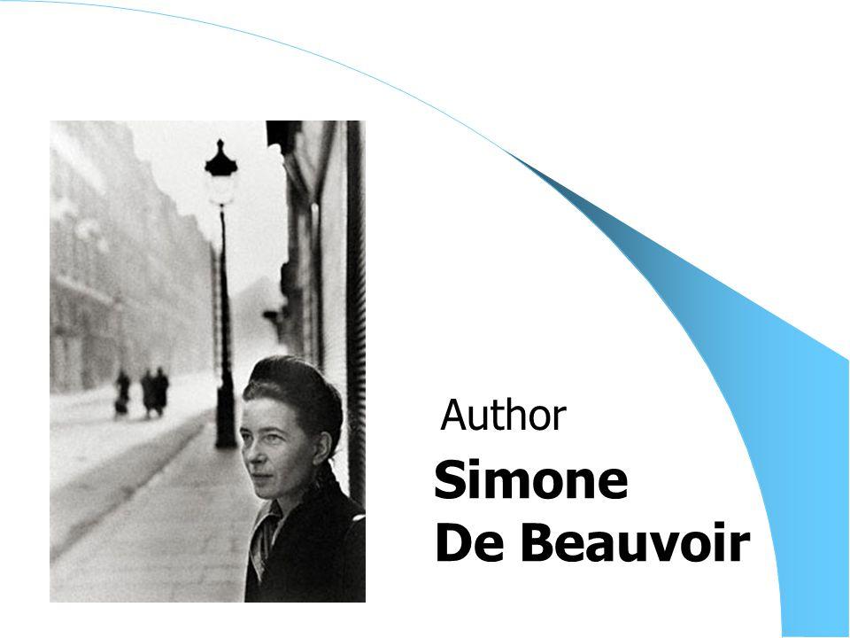 Simone De Beauvoir Author