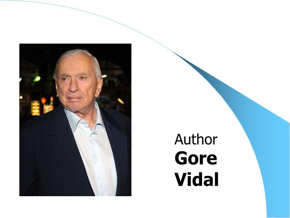 Gore Vidal Author