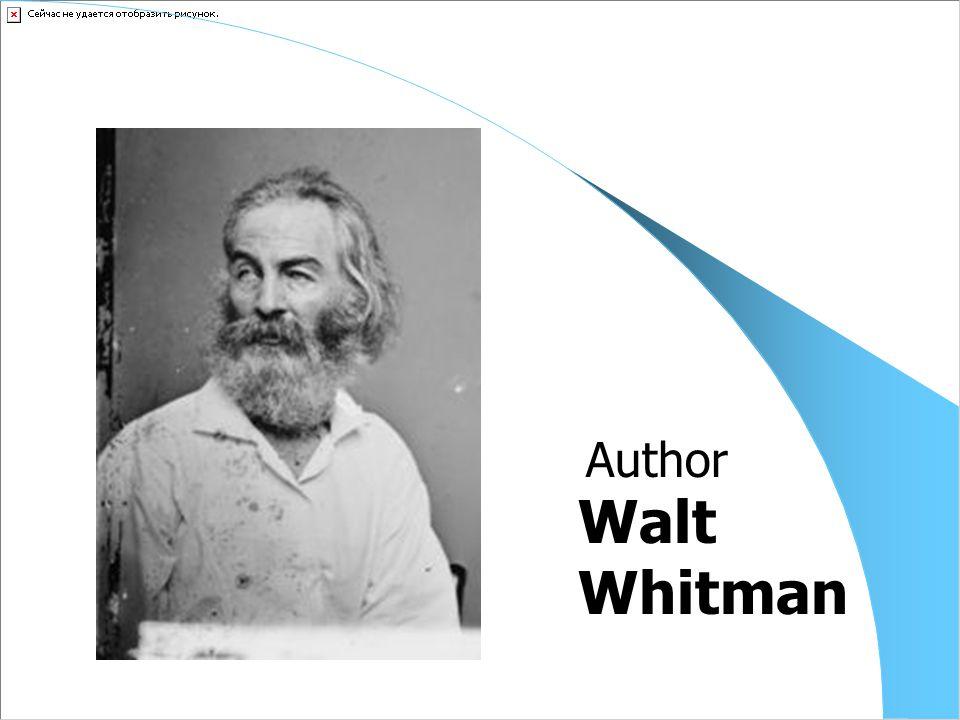 Walt Whitman Author