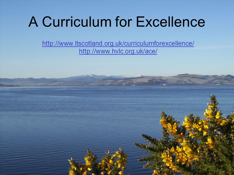 Background 2002 National Debate on Education 2004 Report of the Curriculum Review Group: A Curriculum for Excellence