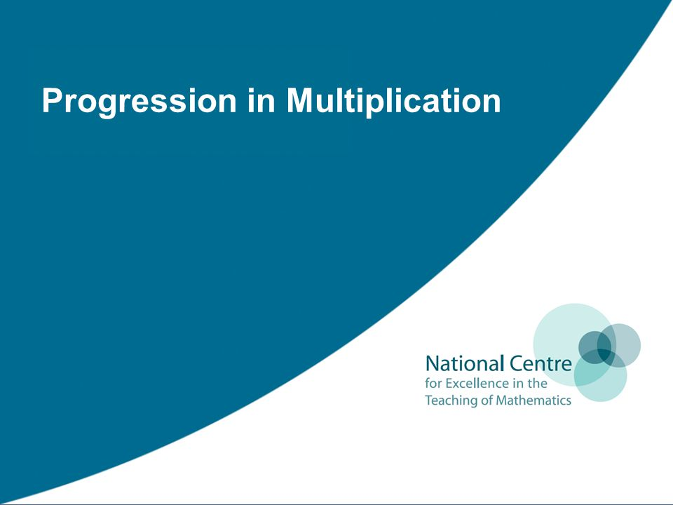 Progression in Multiplication