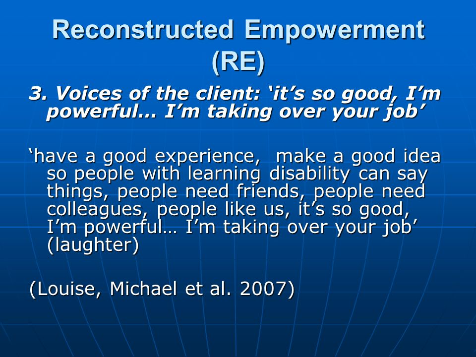 Reconstructed Empowerment (RE) 3.