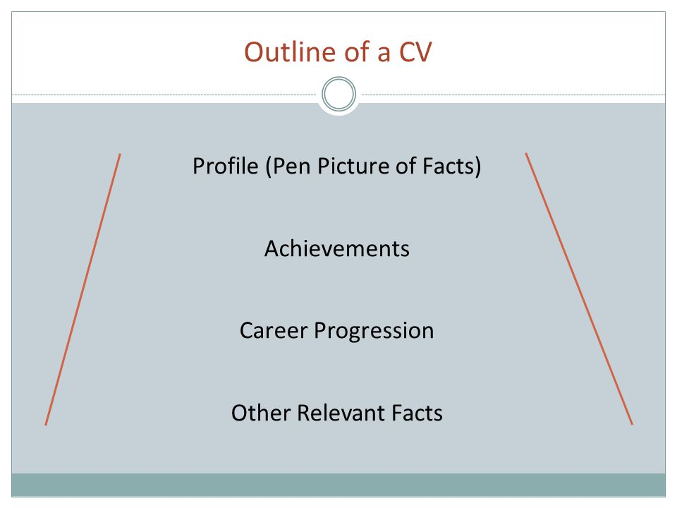 Profile Management level Business areas Functions carried out Areas of particular expertise Abilities, strengths