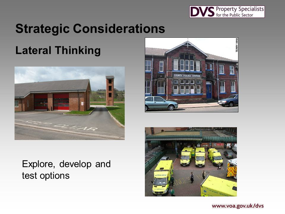 Lateral Thinking Strategic Considerations Explore, develop and test options