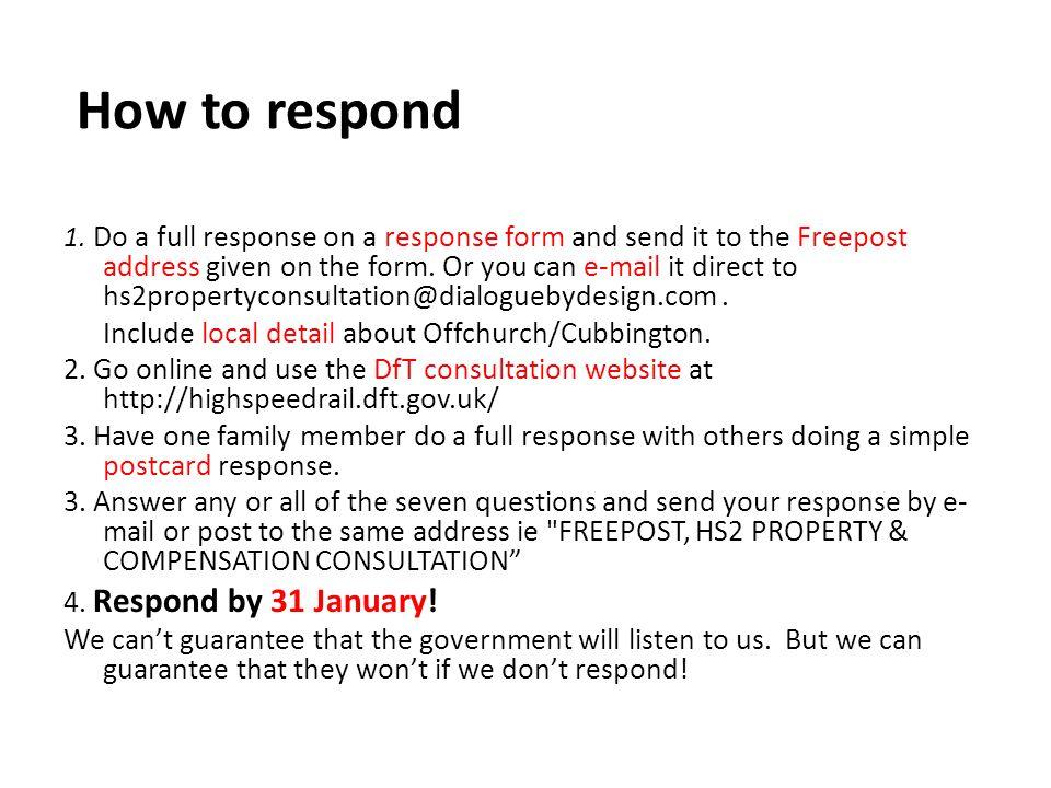 How to respond 1.