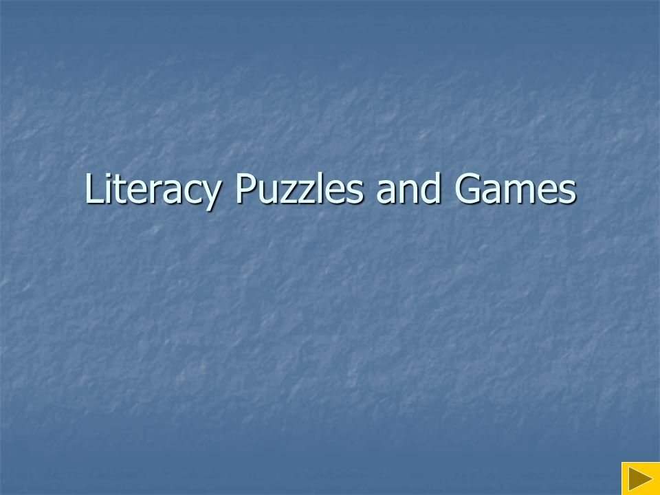 Literacy Puzzles and Games