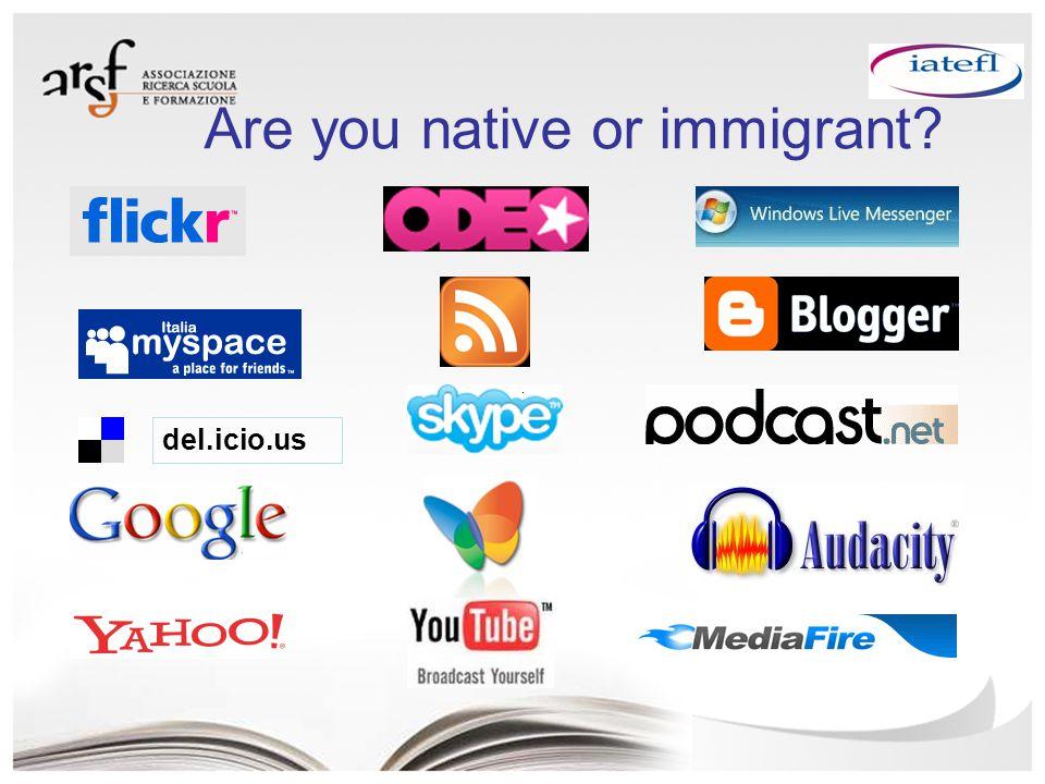 del.icio.us Are you native or immigrant?