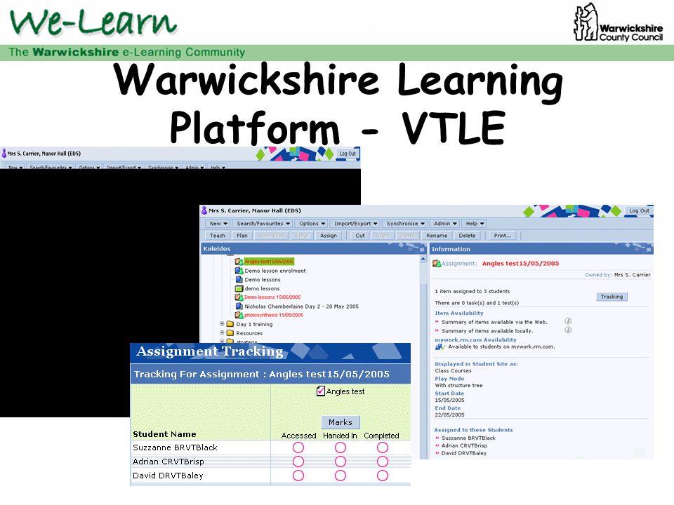 Warwickshire Learning Platform - VTLE