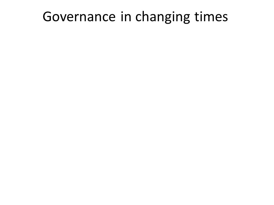 Governance in changing times
