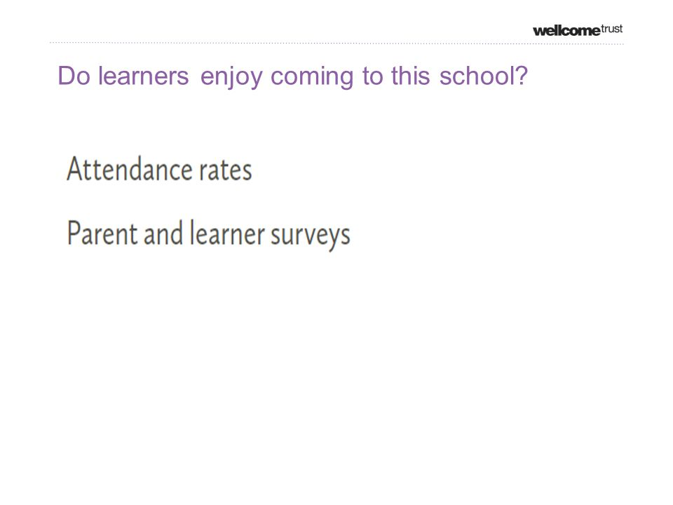 Do learners enjoy coming to this school
