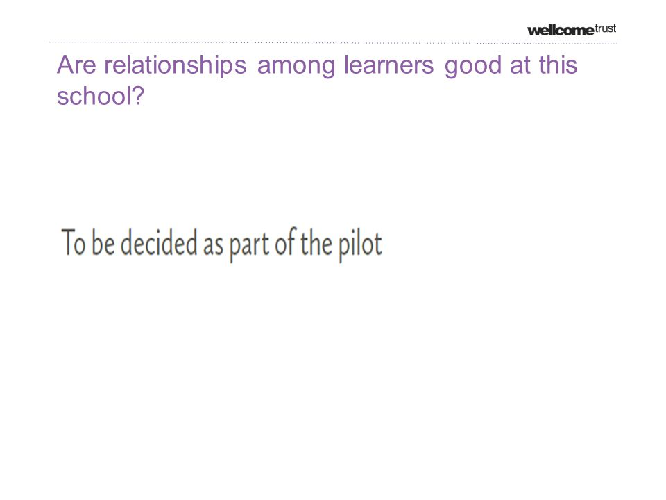 Are relationships among learners good at this school