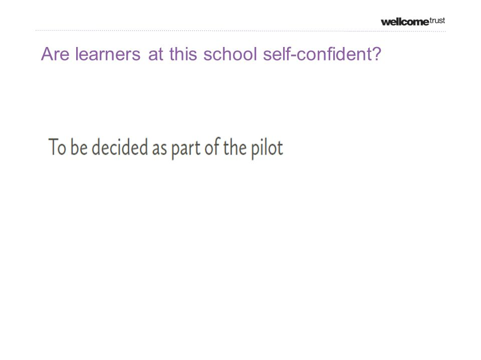 Are learners at this school self-confident