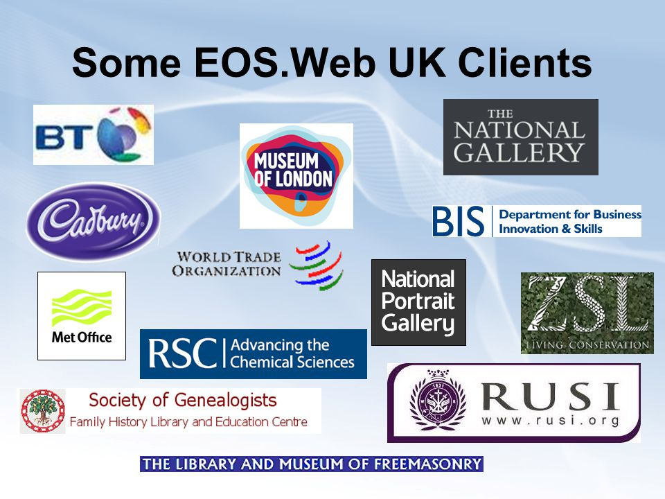 Some EOS.Web UK Clients