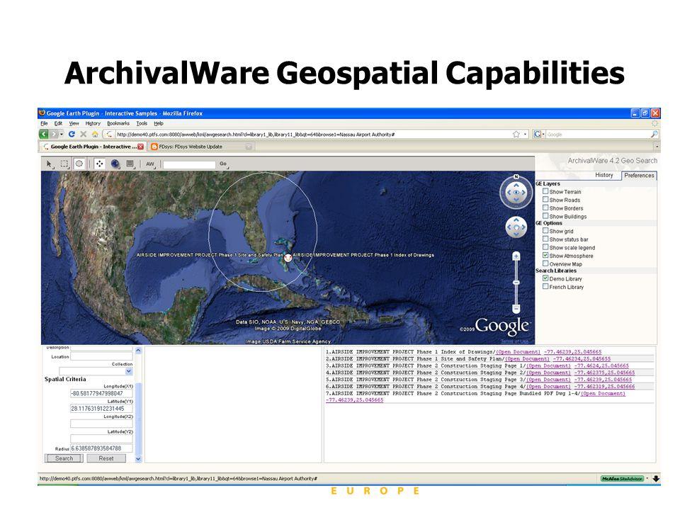 ArchivalWare Geospatial Capabilities