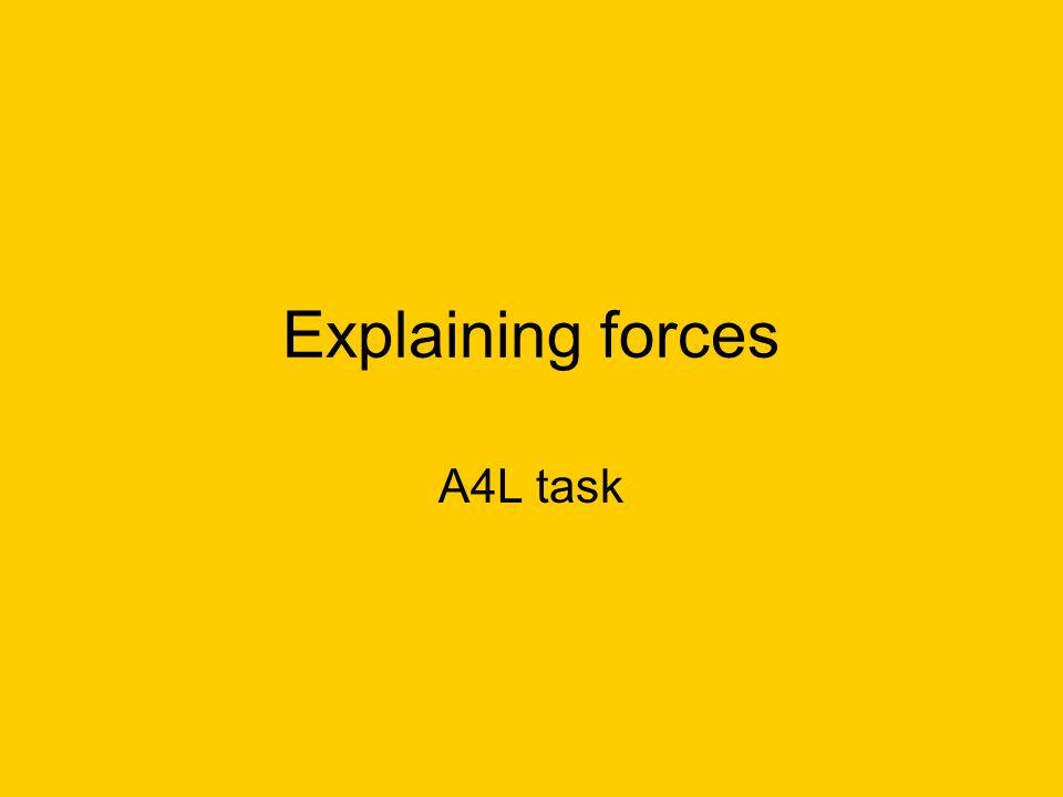 Explaining forces A4L task