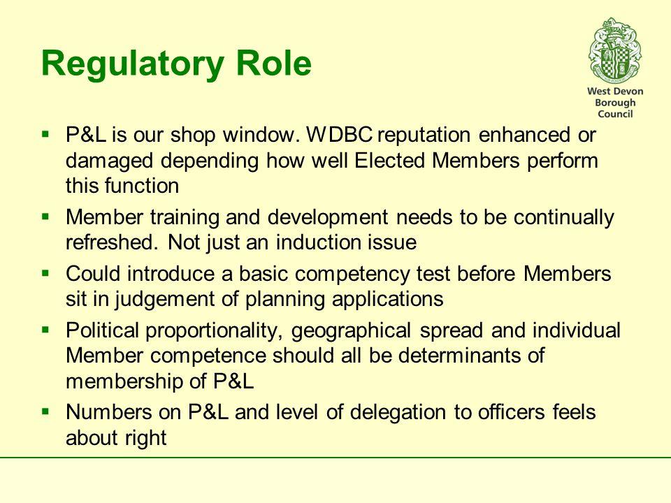 Regulatory Role  P&L is our shop window.