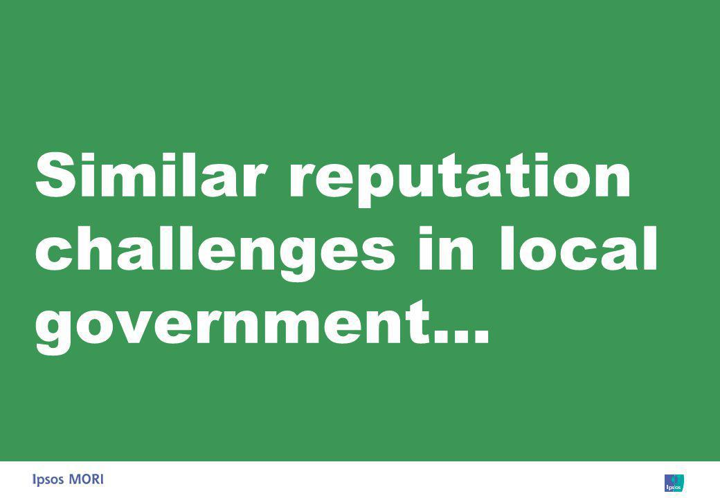 Similar reputation challenges in local government…