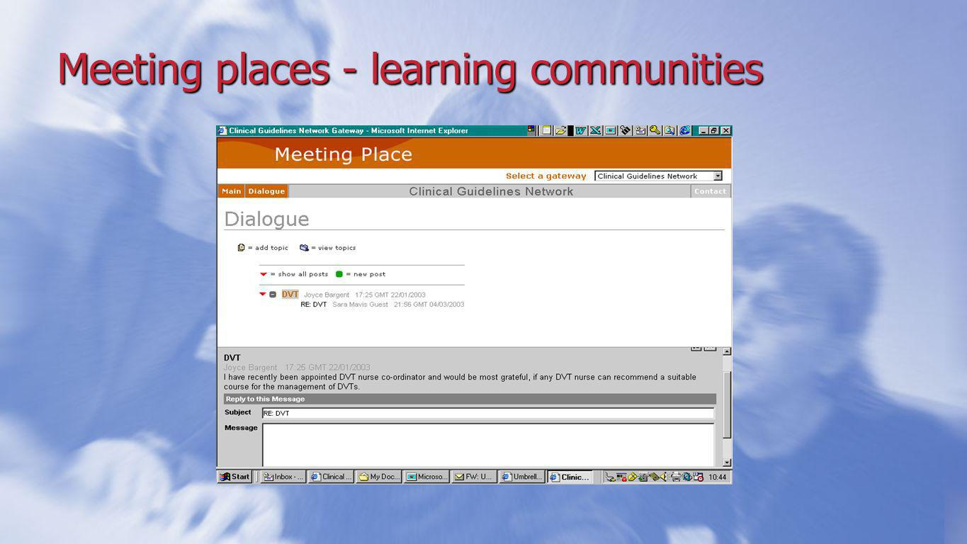 Meeting places - learning communities