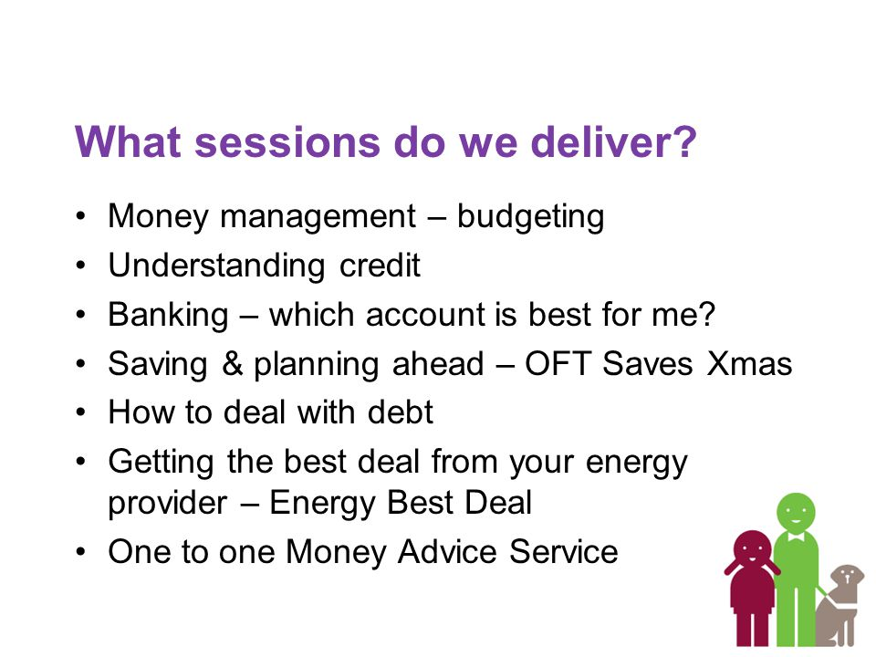 What sessions do we deliver.
