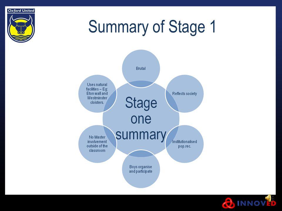 Summary of Stage 1