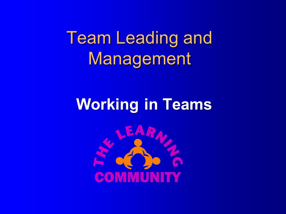 Stage 4 – Performing Leader's actions l Watch out for teams running out of control and in the wrong or inappropriate directions.