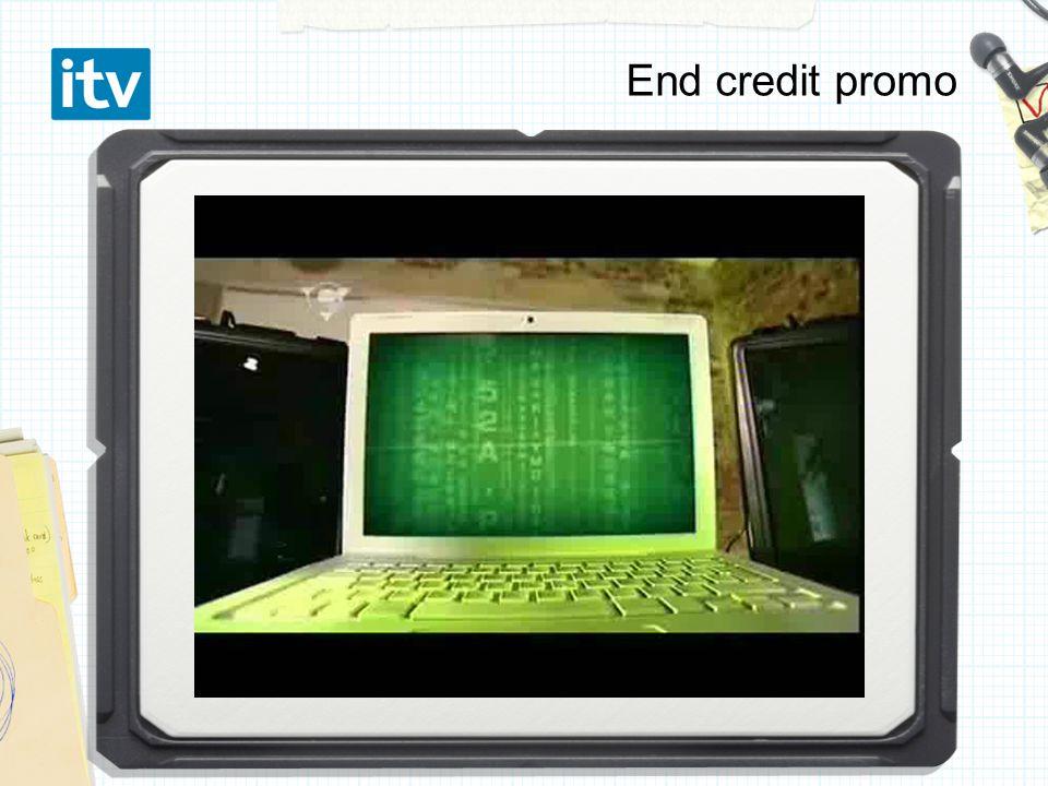 End credit promo