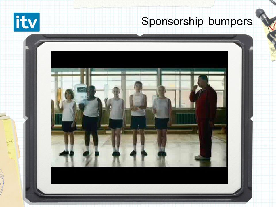 Sponsorship bumpers