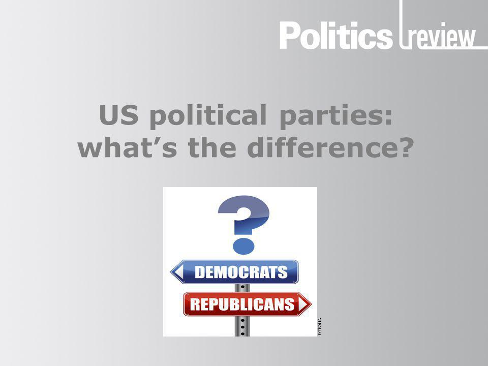US political parties: what's the difference? FOTOLIA