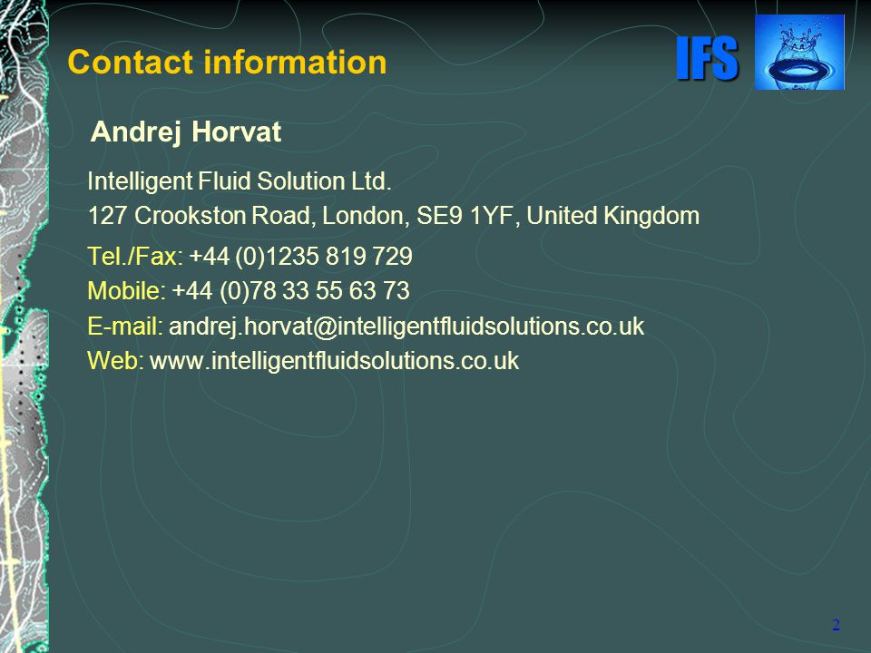 IFS 2 Andrej Horvat Intelligent Fluid Solution Ltd.